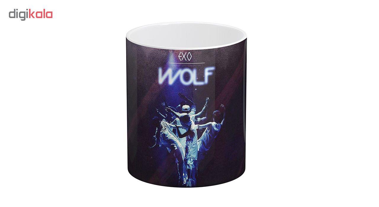 ماگ آبنبات رنگی طرح EXO - WOLF کد KSA0251