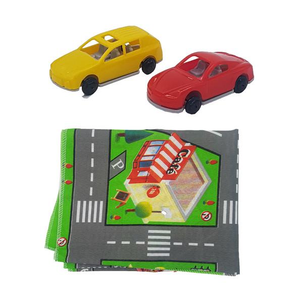 زیر انداز بازی مدل شهر منکد 10048 به همراه ماشین بازی