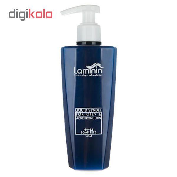 کرم ژل پاک کننده صورت لامینین مدل oily & acne حجم ۲۰۰ میلی لیتر