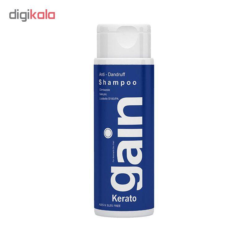 شامپو مو فیس دوکس مدل keratogain dry hair حجم 200 میلی لیتر