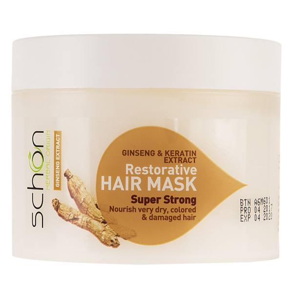 ماسک موی ترمیم کننده شون مدل Ginseng And Keratin حجم 300 میلی لیتر