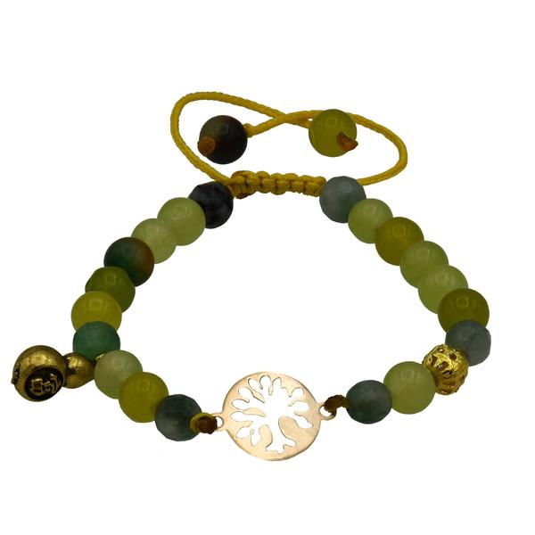 دستبند طلا 18 عیار زنانه آمانژ طرح درخت کد 458D2905