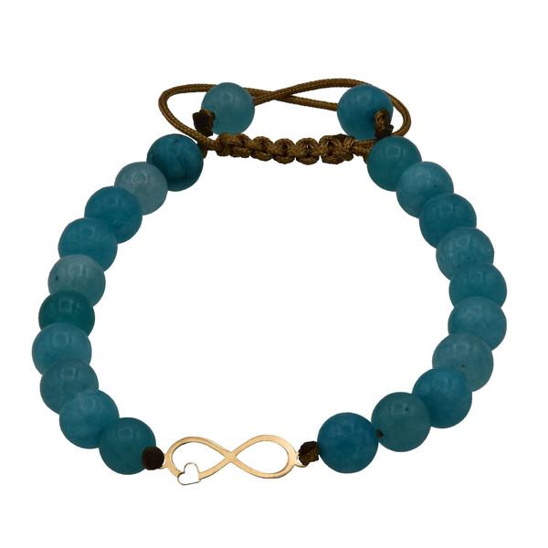 دستبند طلا 18 عیار زنانه آمانژ طرح بینهایت کد 459D2906