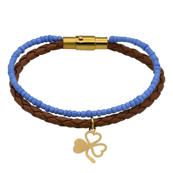 دستبند طلا 18 عیار زنانه طرح قلب کد 499M217