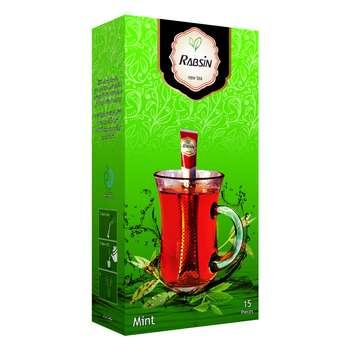 چای سیاه با طعم نعناع رابسین بسته 15 عددی