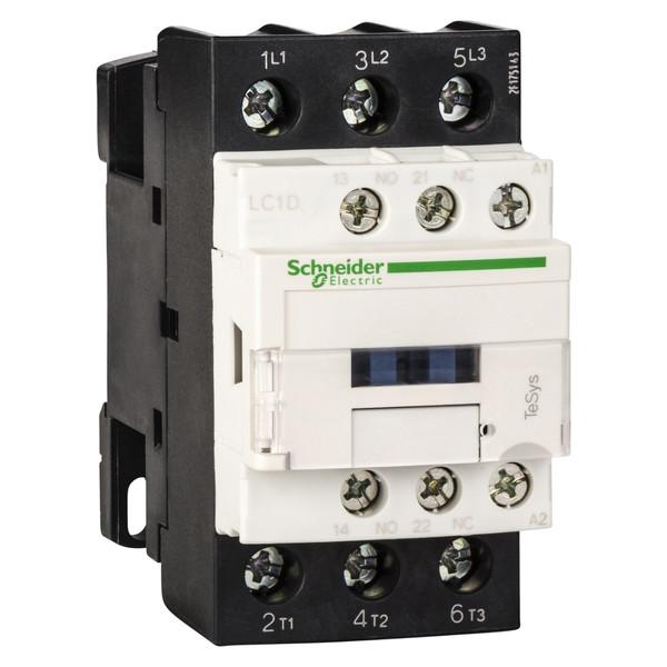 کنتاکتور  اشنایدر الکتریک مدل LC1D18M7 ظرفیت 18 آمپر