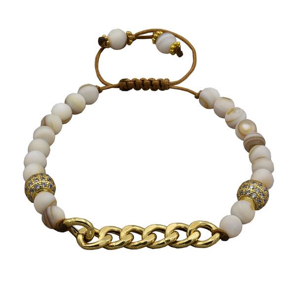 دستبند طلا 18 عیار زنانه کد 503M221