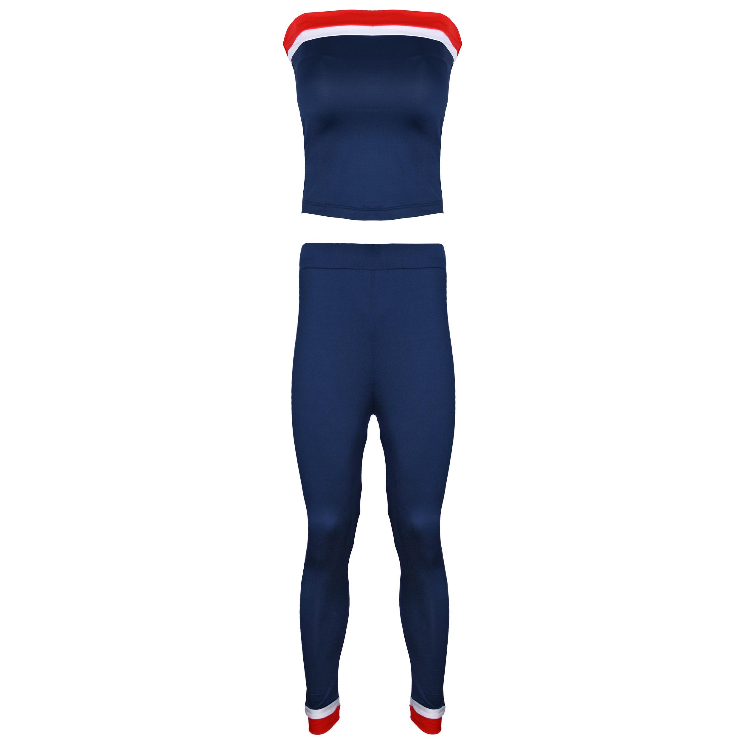 ست نیم تنه و شلوار ورزشی زنانه کد TSH-5 رنگ سرمه ای