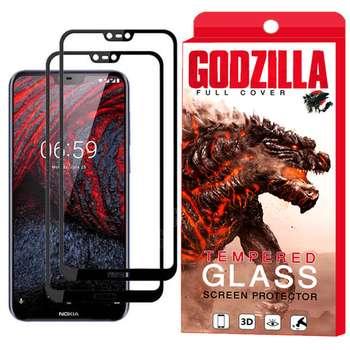 محافظ صفحه نمایش گودزیلا مدل GGF مناسب برای گوشی موبایل نوکیا X6 / 6.1 Plus بسته 2 عددی