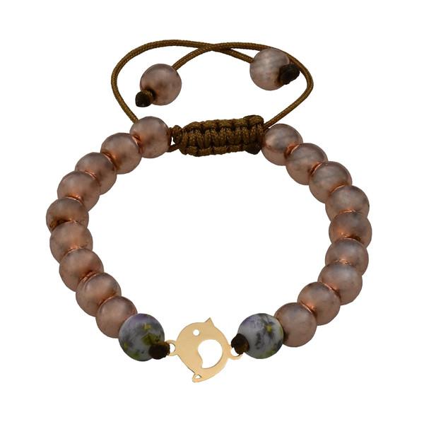 دستبند طلا 18 عیار زنانه آمانژ طرح جوجه کد 461D2908