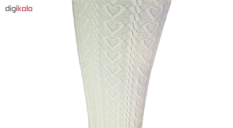 جوراب شلواری دخترانه مدل قلب کد 02