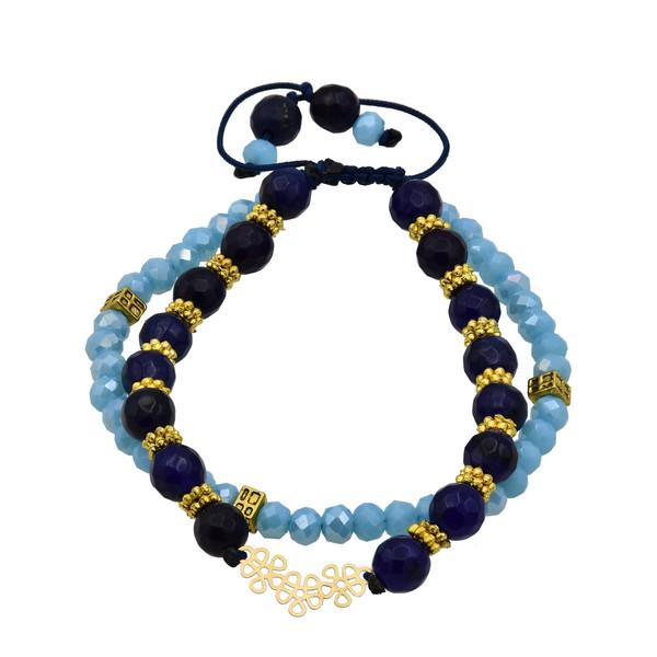 دستبند طلا 18 عیار زنانه آمانژ طرح گل کد 471D2917