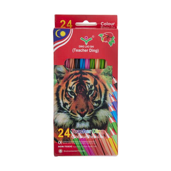 مداد رنگی 24 رنگ تیچر دینگ مدل 11024