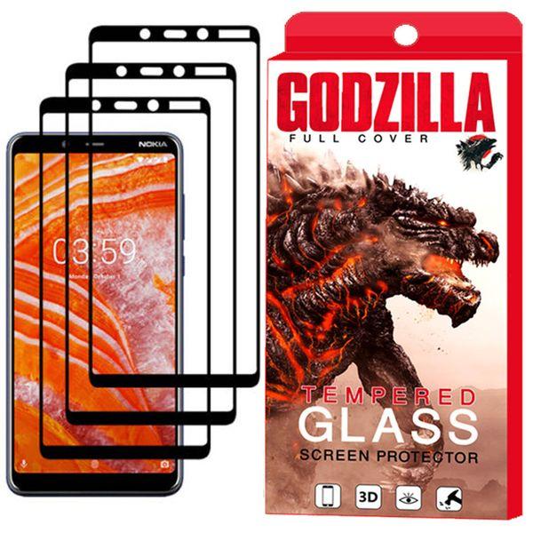 محافظ صفحه نمایش گودزیلا مدل GGF مناسب برای گوشی موبایل نوکیا 3.1Plus بسته 3 عددی