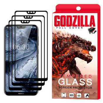محافظ صفحه نمایش گودزیلا مدل GGF مناسب برای گوشی موبایل نوکیا X6 - 6.1 Plus بسته 3 عددی