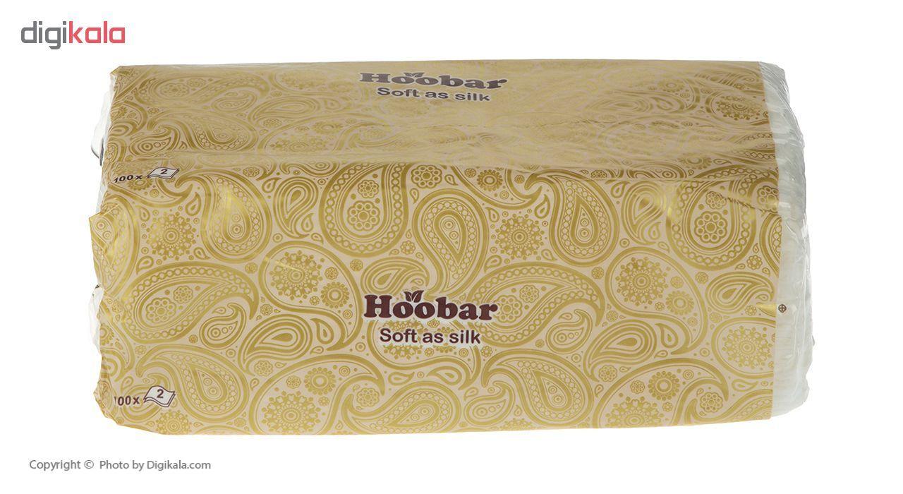 دستمال کاغذی 100 برگ هوبار - بسته 10 عددی main 1 2
