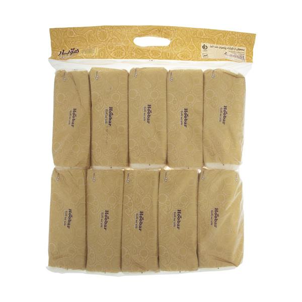 دستمال کاغذی 100 برگ هوبار - بسته 10 عددی