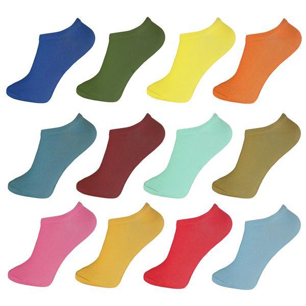جوراب زنانه پرشیکا کد 1 مجموعه 12 عددی
