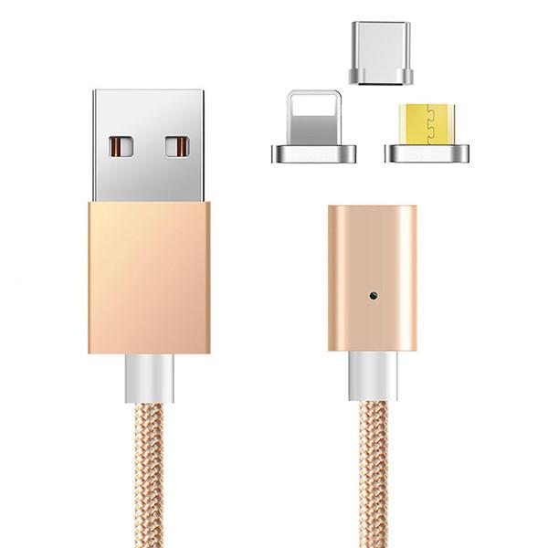 کابل تبدیل USB به لایتنینگ / USB-C / microUSB دولایک مدل DL-CB06 طول 1 متر