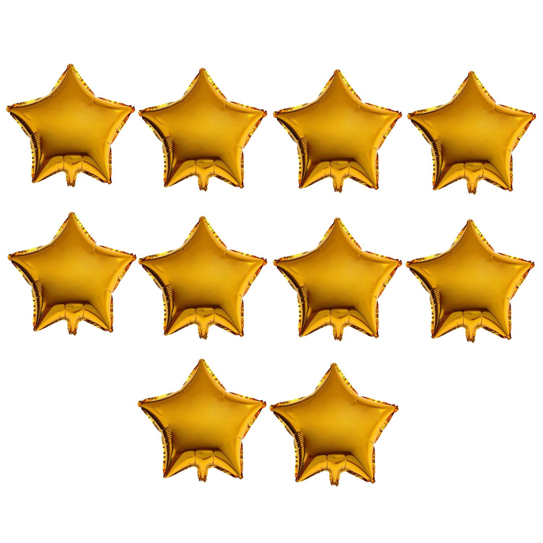 عکس بادکنک فویلی طرح Star کد 206 بسته 10 عددی