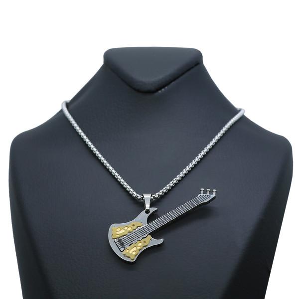 گردنبند مردانه طرح گیتار کد gt03