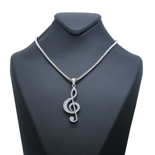 گردنبند مردانه طرح نت موسیقی کد nt01