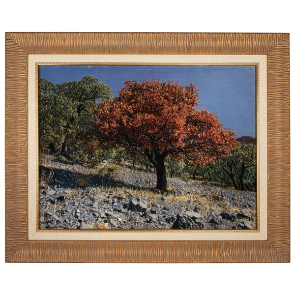 تابلو فرش دستباف سی پرشیا طرح تک درخت سقز کد 901752