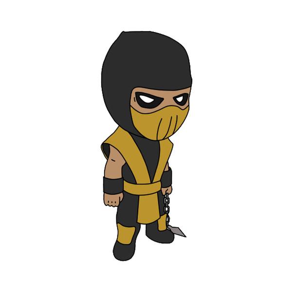 استیکر لپ تاپ طرح Scorpion Mortal Combat کد STL1039
