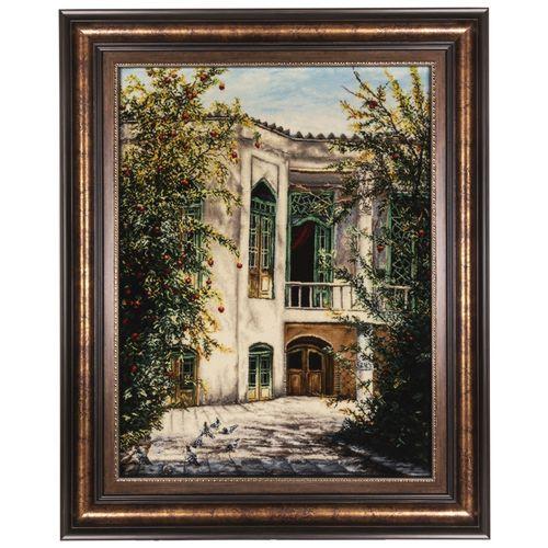 تابلو فرش دستباف سی پرشیا طرح منظره خانه یزدی کد 901761