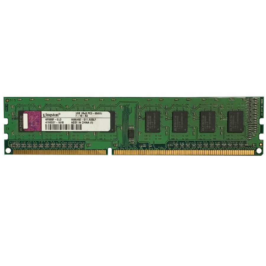 رم دسکتاپ DDR3 تک کاناله 1066 مگاهرتز CL7 کینگستون مدل KF680F-ELD ظرفیت 1 گیگابایت