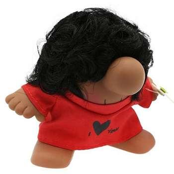 عروسک پالیز طرح مستر دماغ با موی مجعد مدل I Love You ارتفاع 8 سانتی متر