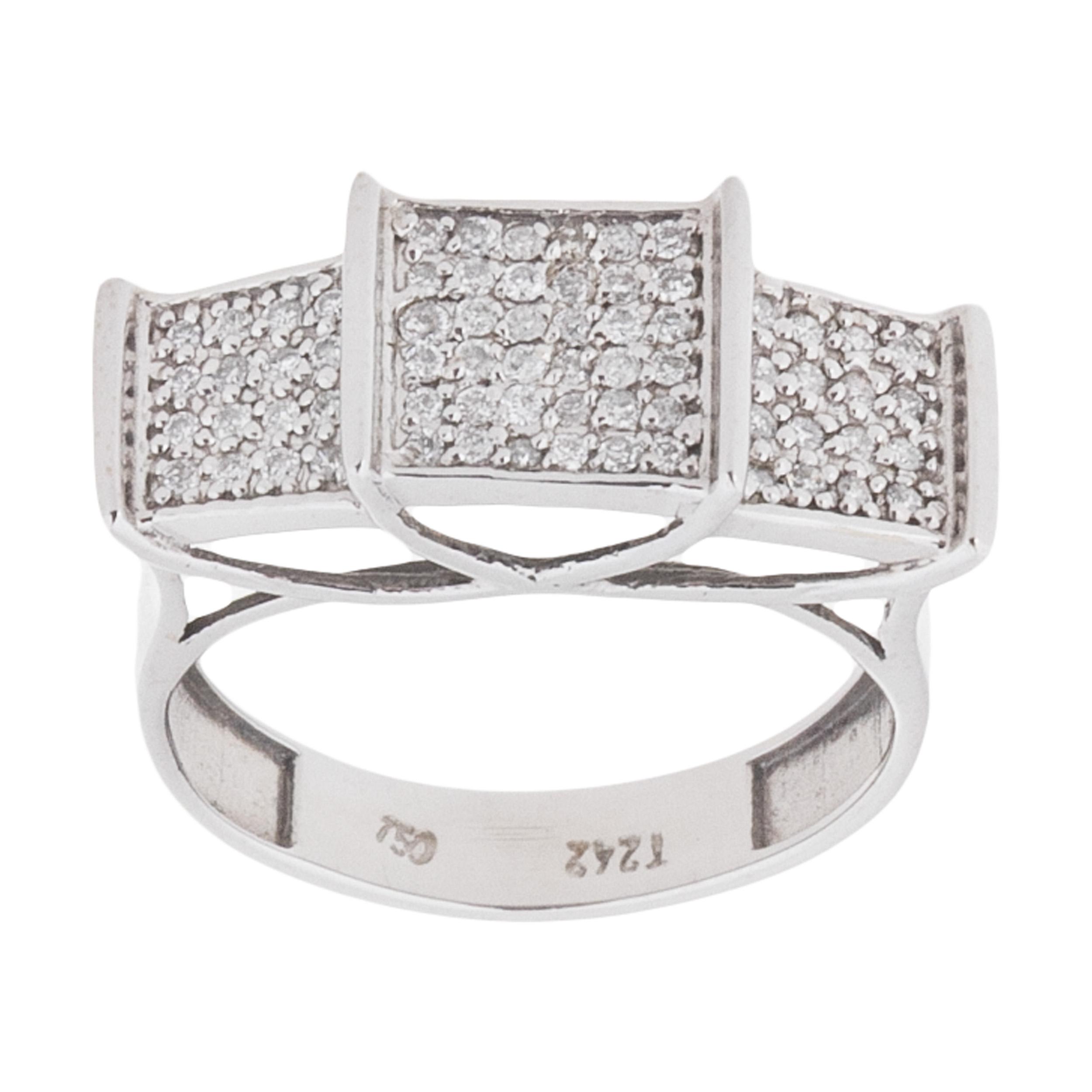 انگشتر طلا 18 عیار زنانه گالری آلند کد 2112