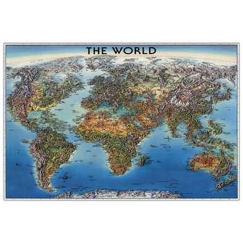تابلو شاسی پالمیرا طرح نقشه سه بعدی جاذبه های توریستی جهان کد MAP164 A