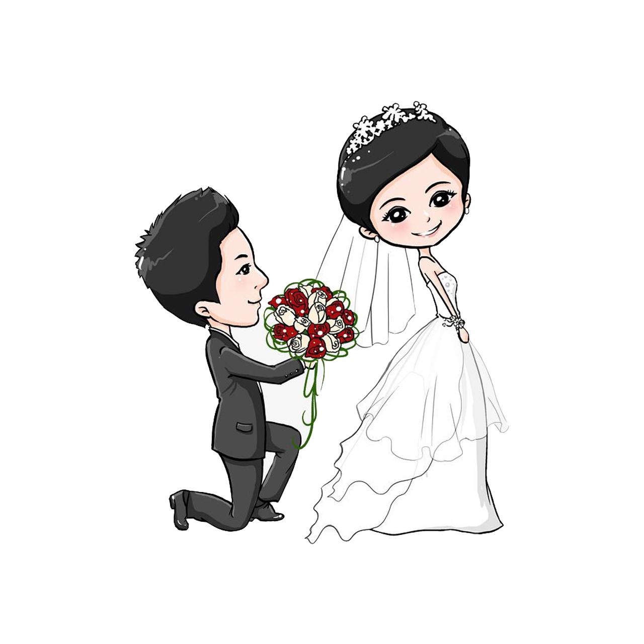 استیکر لپ تاپ طرح عروس و داماد کد STL1156