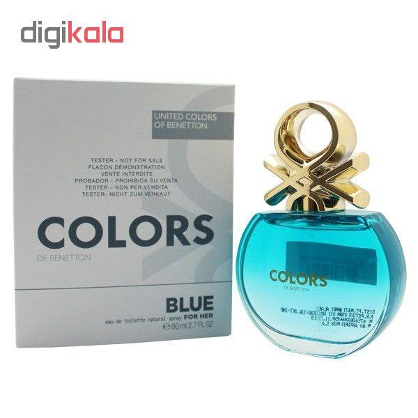 تستر ادو تویلت زنانه بنتون مدل Colors de Benetton Blue حجم 80 میلی لیتر