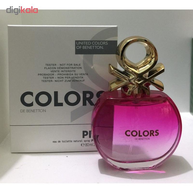 تستر ادو تویلت زنانه بنتون مدل Colors de Benetton Pink حجم 80 میلی لیتر