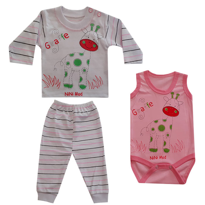 ست 3 تکه لباس نوزادی کد B-020