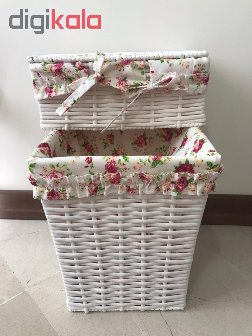 ست سطل و جعبه دستمال کاغذی کد FL001 main 1 1