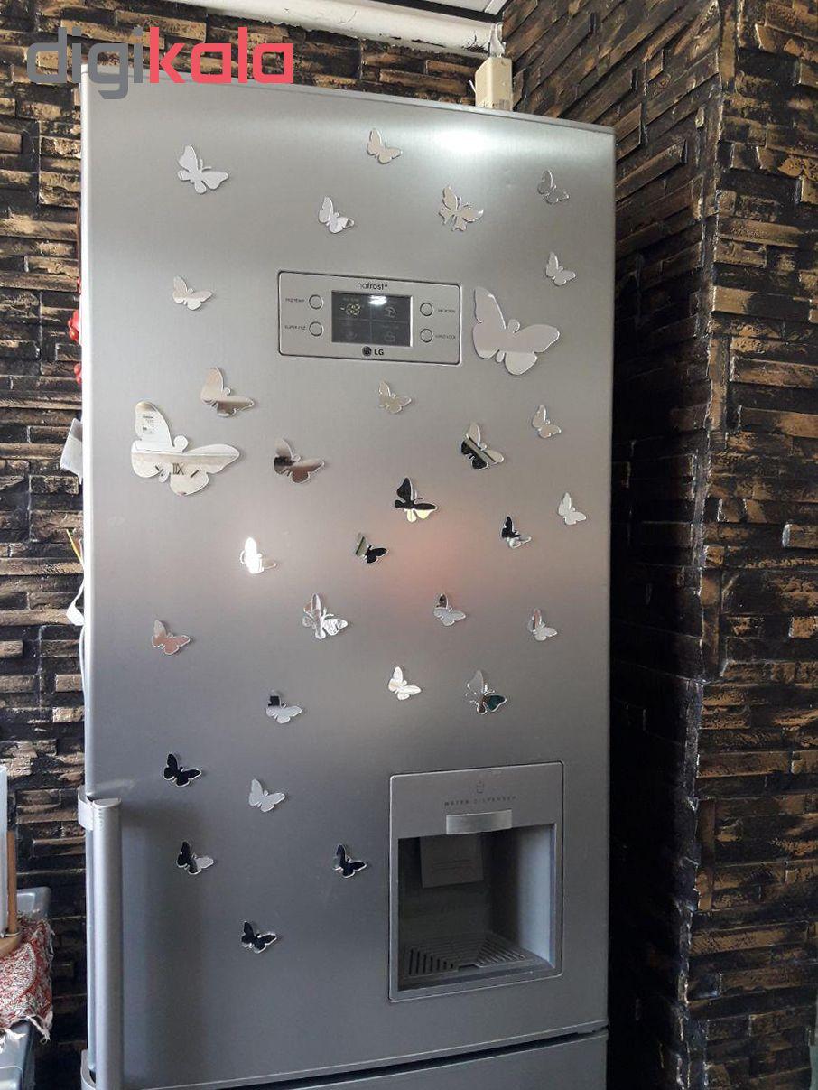 استیکر دیواری پدیده شاپ طرح پروانه مجموعه 24 عددی main 1 4