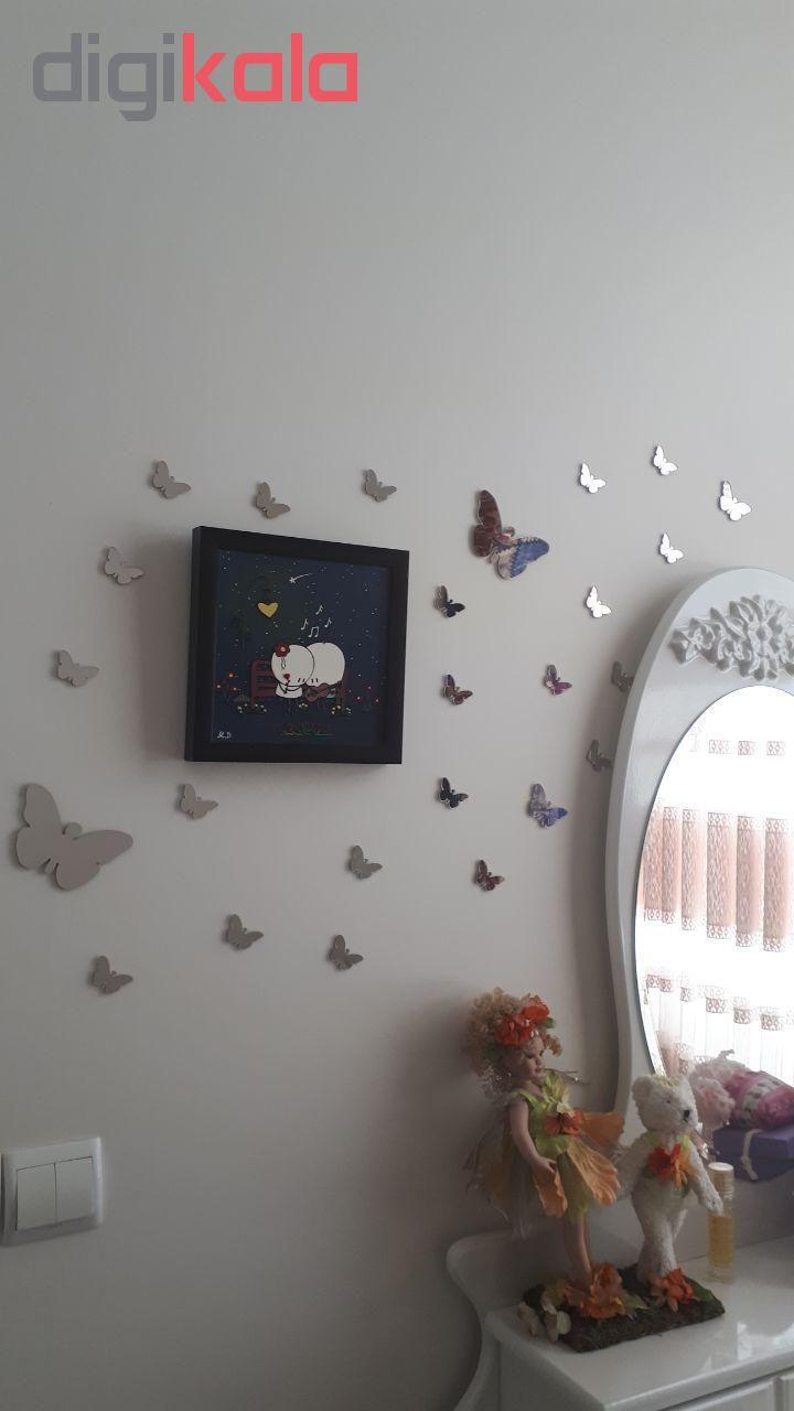 استیکر دیواری پدیده شاپ طرح پروانه مجموعه 24 عددی main 1 6
