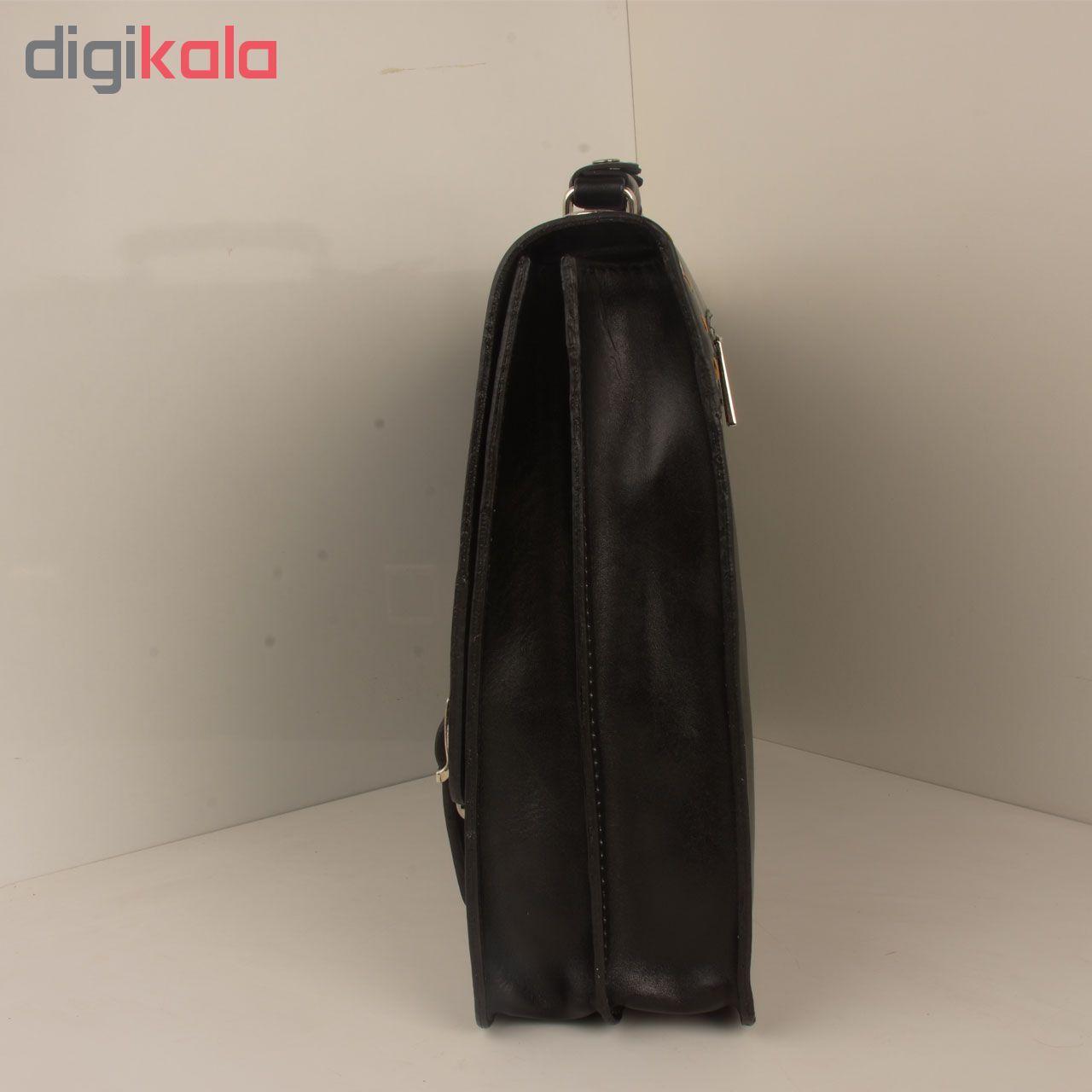 کیف اداری مردانه کهن چرم کد L63-1 main 1 3