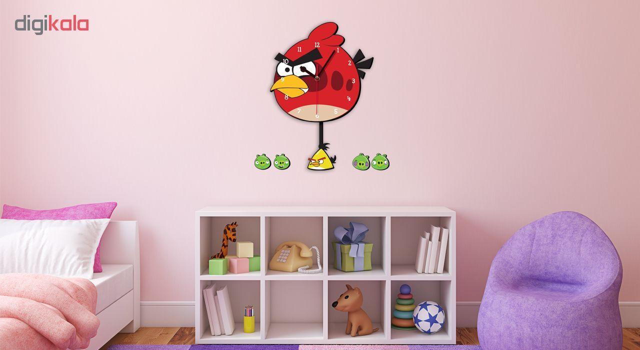 ساعت دیواری کودک ژیوار طرح Angry birds main 1 1