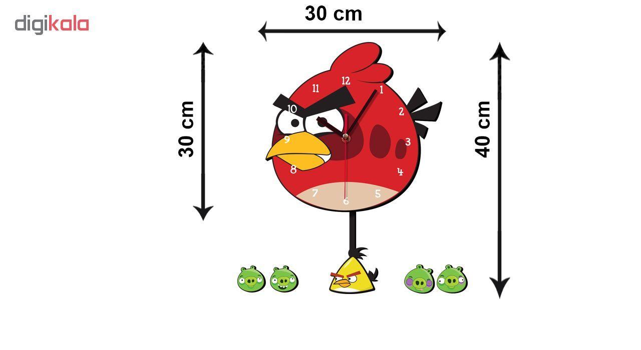 ساعت دیواری کودک ژیوار طرح Angry birds main 1 2