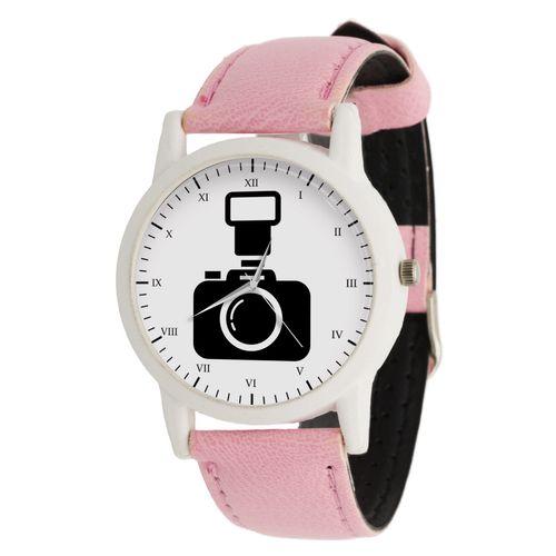 ساعت مچی عقربه ای زنانه طرح دوربین عکاسی کد LF1704