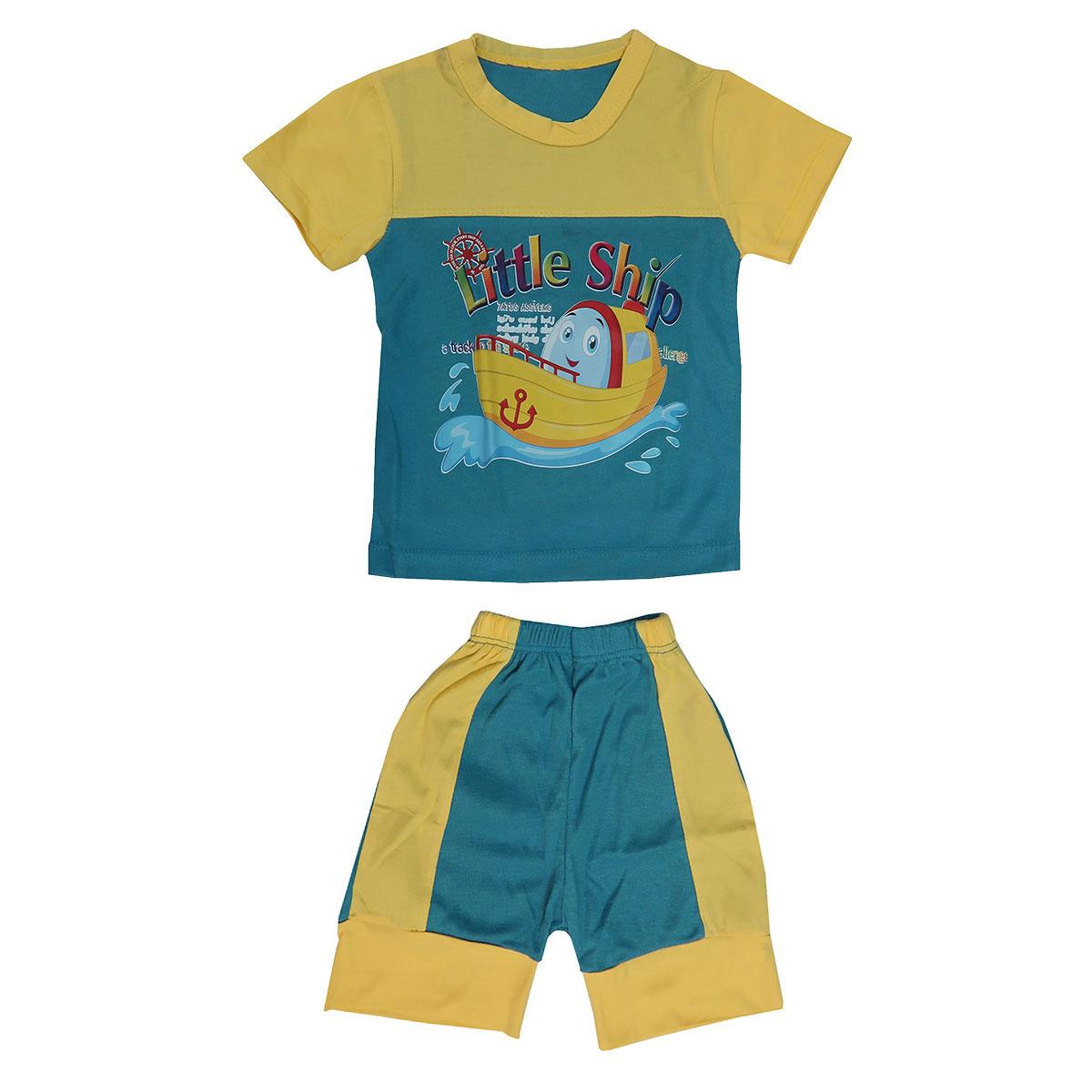 ست تی شرت و شلوارک پسرانه کد Tsh-YLB35-c