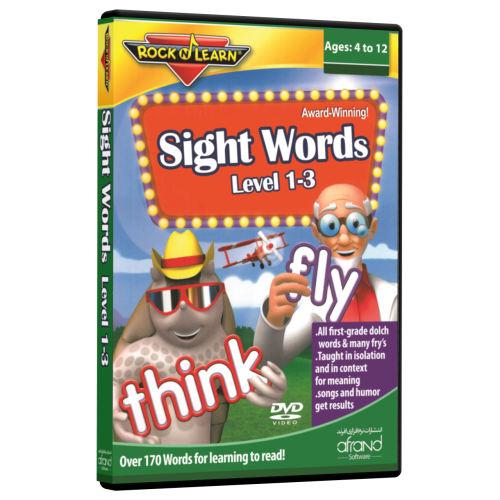 فیلم آموزش زبان انگلیسی RockNLearn Sight Words Level 1-3 انتشارات نرم افزاری افرند