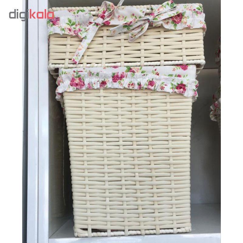 ست سطل و جعبه دستمال کاغذی کد FL001 main 1 4