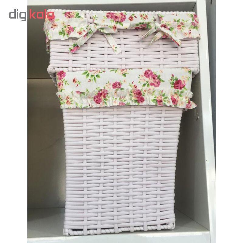 ست سطل و جعبه دستمال کاغذی کد FL001 main 1 5