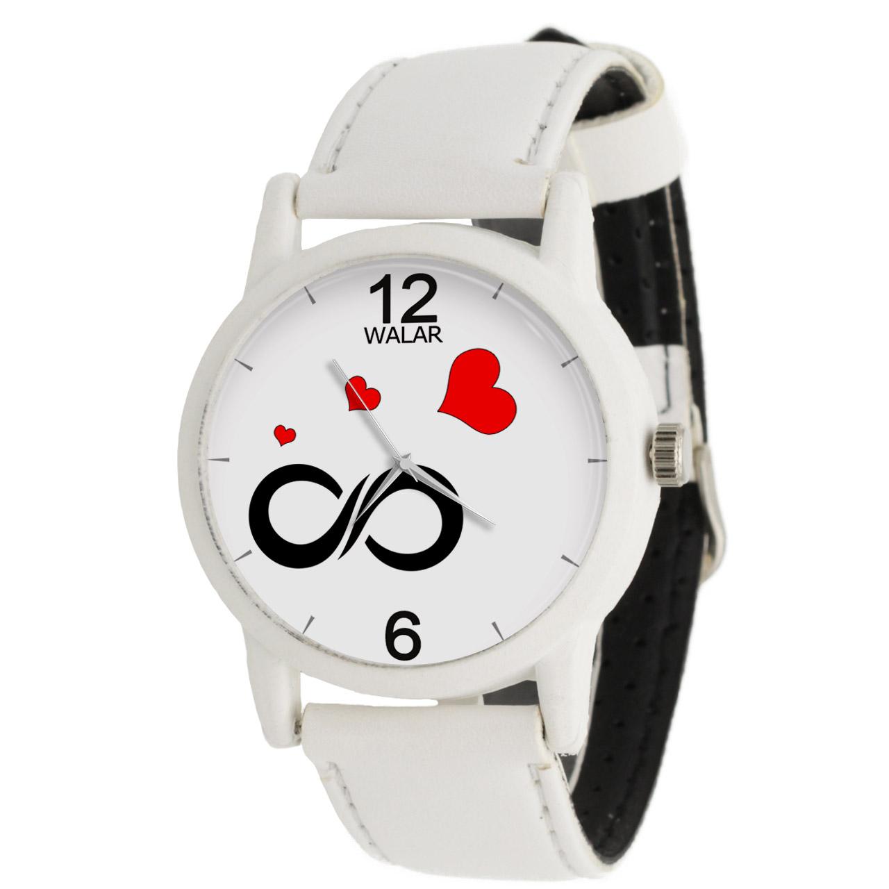 ساعت مچی عقربه ای زنانه والار طرح بی نهایت مدل LF1668