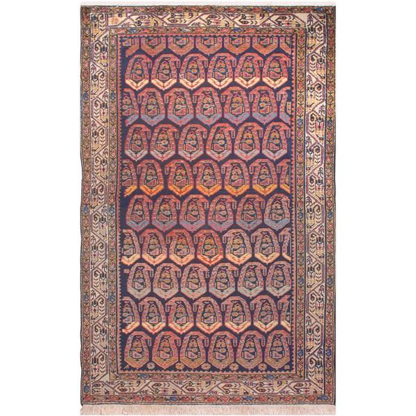 فرش دستبافت قدیمی دو و نیم متری فرش هريس کد 101467